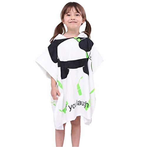 Gagacity Unisex Bambini Teli da Poncho da Bagno con Cappuccio,Coperta Morbida Cotone di Balneazione Wrap Vestaglia per 1-6 Anni/Panda