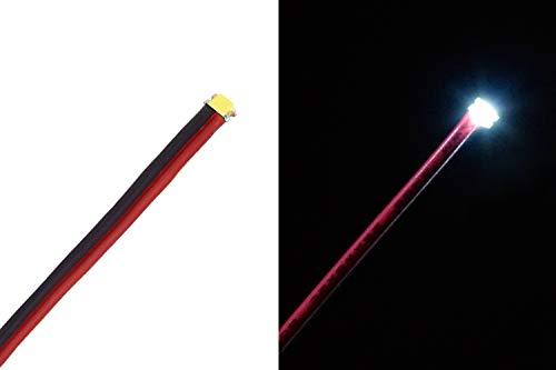 QUADRIOS GmbH SMD-LED 1206 Leuchtdioden Sortiment Set mit Litzen bedrahtet 30 Teile Sortimentskasten Rot/Grün/Gelb/Blau/Weiß/Bernstein