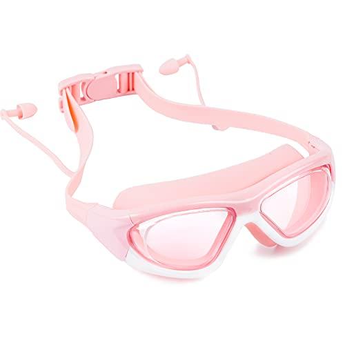 DOSNTO Gafas de Natación Niños, Gafas de Natación Adolescentes Tempranos de 3 a 15 Años Para Niñas, Niños, Visión, Anti-Niebla, Impermeable, Protección UV.