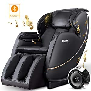 SGorri Massage Chair, Zero Gravity and Shiatsu Recliner with Bluetooth, Hip Heating, Foot Massage and Air Pressure for Whole Family