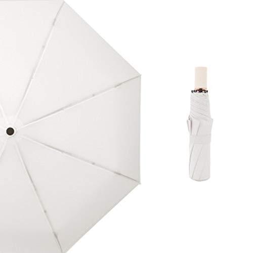 H/A Mini-Taschenschirm für Damen, UV-Schutz, wasserdicht, für Damen, Herren, Sonnenschirm, bequem, für Reisen, TOM-EU (Farbe: Spinnrute)