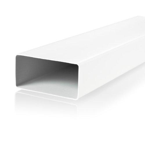 Vents - Canal de ventilación (110 x 53 mm, 1 m, plástico)