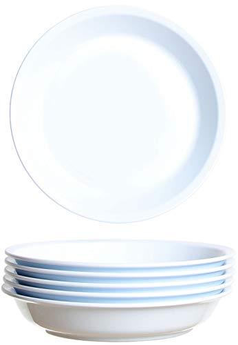 idea-station Gastro Piatto plastica 6 Pezzi, 21 cm, Bianco, Rigida, Riutilizzabile, Rotondo, impilabile, Set, Servizio, Piani, Bambini, Lavabile in lavastoviglie