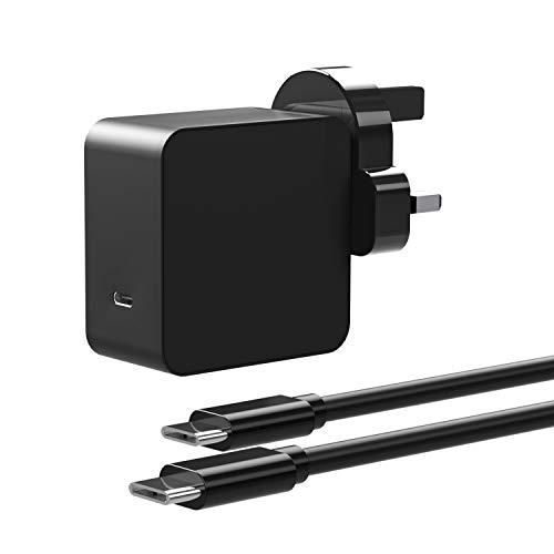 Milipow PD 65W GaN Charger,USB-C/Type-C Port AC Adapter replacement for Spectre Folio 13-ak0000tu,Huawei Matebook X/MateBook X Pro/Matebook 13 WRT-W29/Matebook E/Matebook D,Lenovo ThinkPad X1