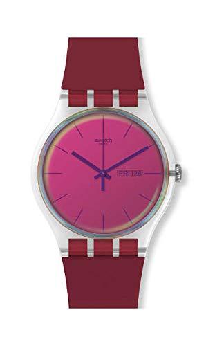 Swatch Unisex– Erwachsene Analog Schweizer Quarz Uhr mit Silicone Armband SUOK717