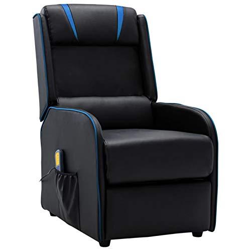 Tidyard Elektrische Massagesessel Fernsehsessel Relaxsessel TV Sessel Polstersessel Sessel 6 Massagepunkte,Liege-Heizfunktion,Ruhesessel Liegesessel Relaxliege,Verstellbare Kopf-und Fußstütze