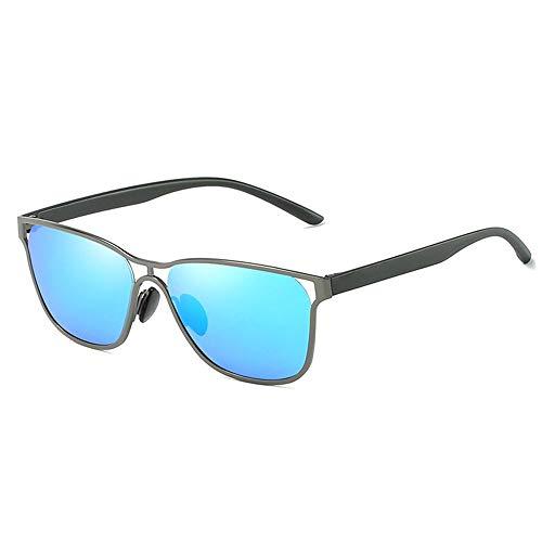 SWNN Sunglasses Negro/Gris/Dorado Exquisito Negocio Gafas De Sol Lente Azul Gafas De Sol Hombre Que Conduce El Conductor Gafas Polarizadas (Color : Gray)
