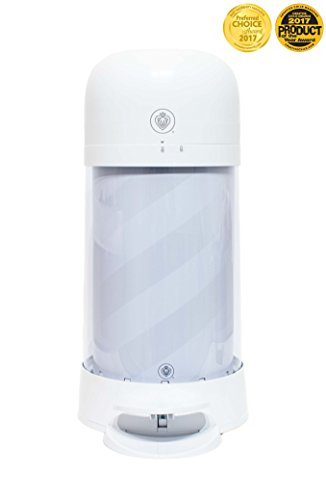 Prince Lionheart Twist'r Diaper Disposal System, White Candy Stripe