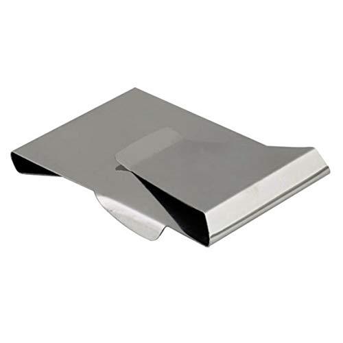 #NA Práctica Billetera Multiusos de Acero Inoxidable Clip de Dinero Portatarjetas bancarias Monedero Clip de Dinero de Metal Clip de dólar