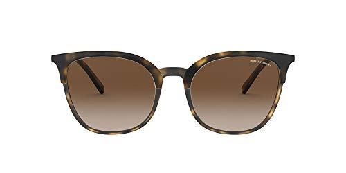AX4091S Óculos de sol quadrados, Matte Havana/Havana/Brown Gradient, 54 mm