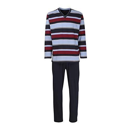 Götzburg Herren Pyjama lang Zweiteiliger Schlafanzug 52