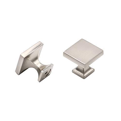Möbelknauf für Küchenschubladen, modernes Design, Schwarz, metall, gebürsteter nickel, 12 Pack