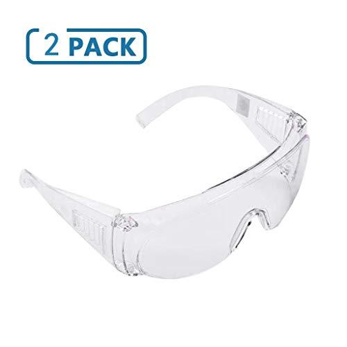 MORCHAN Protection Goggles, Multifunction Anti-Spitting Saliva Dust-proof Windproof Waterproof Sand-Proof Splash-Proof Viruses Eye Protective Glasses (2 PC)