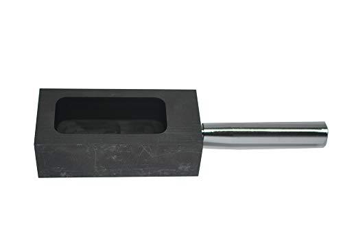Molde de grafito LLF dorado y plateado para fundir y refinar con barra de metal