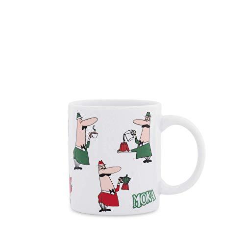 Bialetti DCMOKI0032 Mug Tricolore Omino, Porcellana