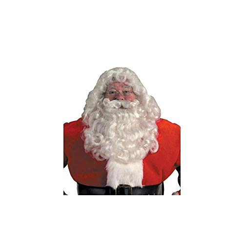 Halco Professional Santa Wig and Beard Set Costume Accessory,Red,One Size