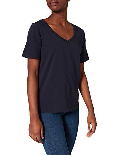edc by Esprit 031cc1k324 T-Shirt, 400/bleu Marine, XL Femme