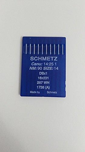 Agujas Schmetz para maquinas de Coser 1738 industriales DBx1 Redondas Originales (90)