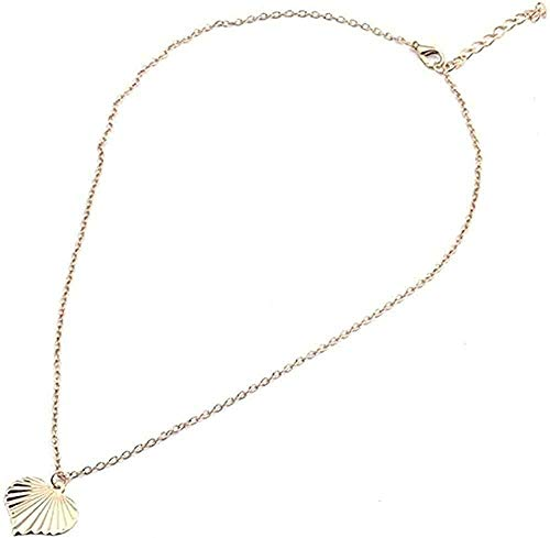 Yiffshunl Necklace Simple Style Wild Heart Necklace Long Chain Necklaces and Pendants for Women Party Gift DIY Jewelry Size 45 + 5Cm Neklace for Women
