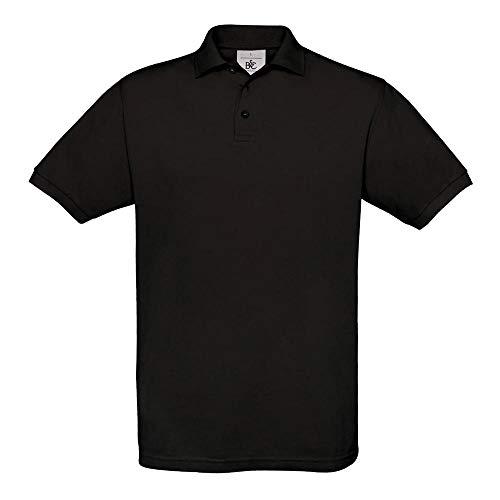 B&C - Piqué Poloshirt 'Safran' XL,Black