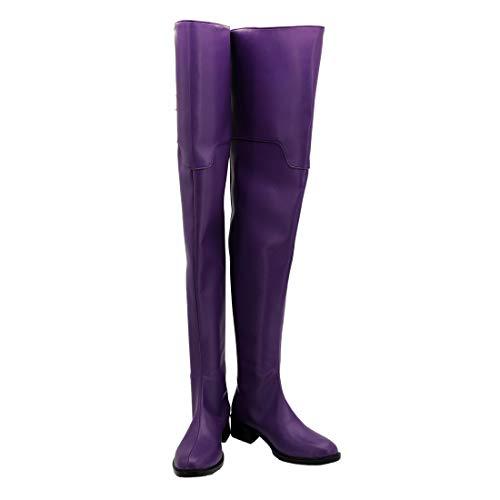 YYFZ Anime Cosplay Schuhe Overknee-Stiefel Lila Hohe Stiefel Herren Version Customization,Men's size-45