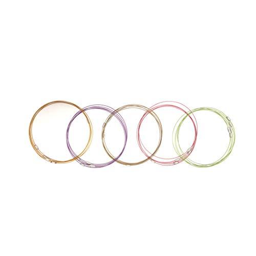 skyllc® 1mm chaîne 25X Acier Métal Collier Mix 5 Couleur Chaplet