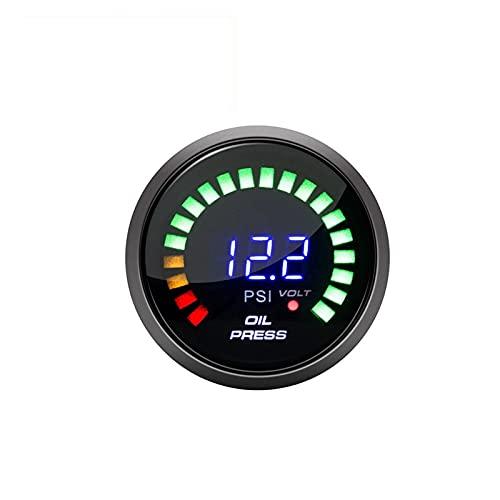 MINGMIN-DZ 타코미터 공장 판매 52MM 오일 압력 측정기   게이지   센서 디지털 디스플레이 전압계 12 볼트 자동차 유니버설 스페어 차계 자동차 용 (색상 : 오일 프레스 게이지)