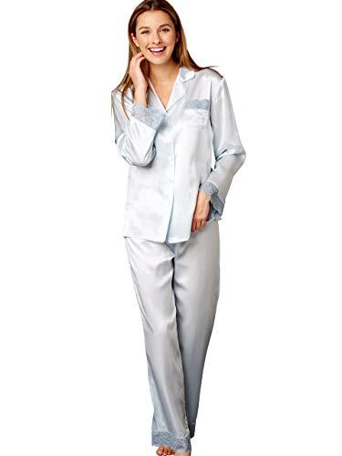 Julianna Rae Serendipity Women's 100% Silk Pajama, Petite, Murano, XSP