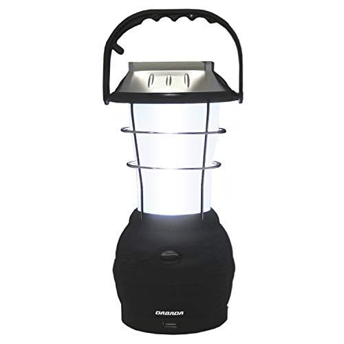 DABADA(ダバダ) LEDランタン 充電式 電池式 ソーラー 手動 USB 防災 63灯 シガーソケット付 (LED63灯 ホ...