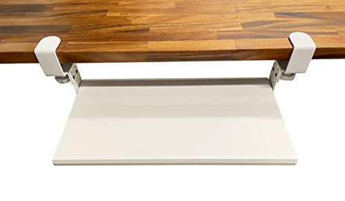 """Stand Up Desk Store Compact Clamp-On Retractable Adjustable Keyboard Tray/Under Desk Keyboard Tray 