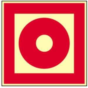 Schild Brandmelder manuell HIGHLIGHT langnachleuchtend gemäß ASR A1.3/BGV A8, PVC 20 x 20 cm (Brandschutz, Feuermelder) wetterfest