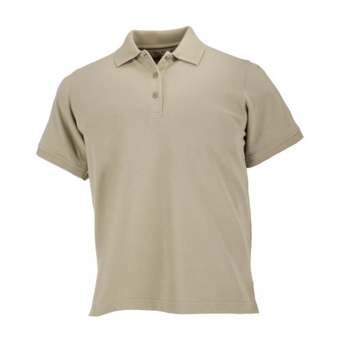 5.11 Tactical Damen Profi Kurzarm Poloshirt 100% Baumwolle Piqué Style 61166 M Silberbraun.