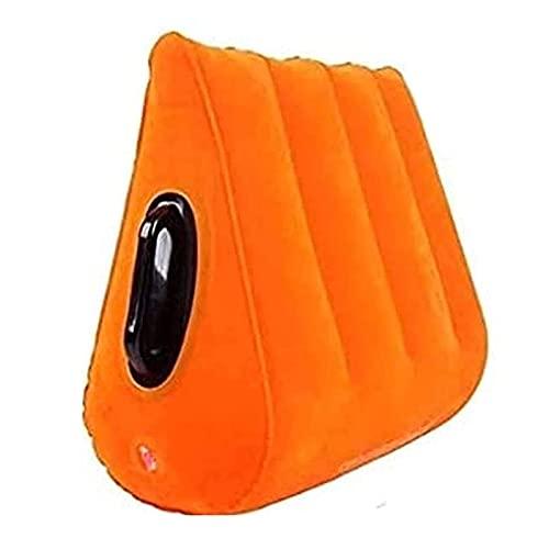 Lanyin Cojín inflable multifuncional suave antideslizante portátil almohada de yoga durable para el hogar que viaja