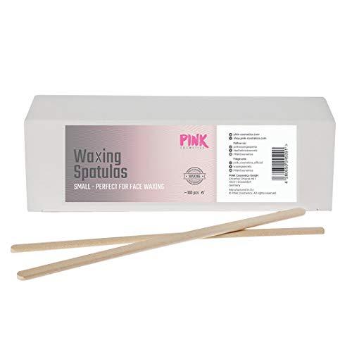 Kleine Waxing Holzspatel 100 Stück - Zum präzisen Auftragen von Wachs oder Sugaring Paste - Ideal zur Haarentfernung auf kleinen Körperstellen im Gesicht - Für Waxing und Sugar Waxing geeignet