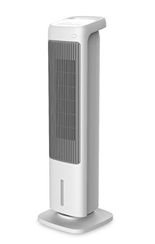 RADIALIGHT Omni Raffrescatore ad acqua portatile Multifunzione 4 in 1 con Telecomando - Ventilatore a torre - Termoventilatore - Umidificatore