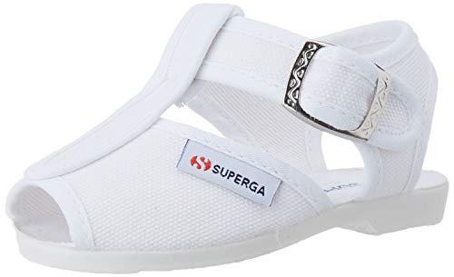 Superga Unisex-Kinder 1200-cotj T-Spangen Sandalen, Weiß (White 900), 21 EU