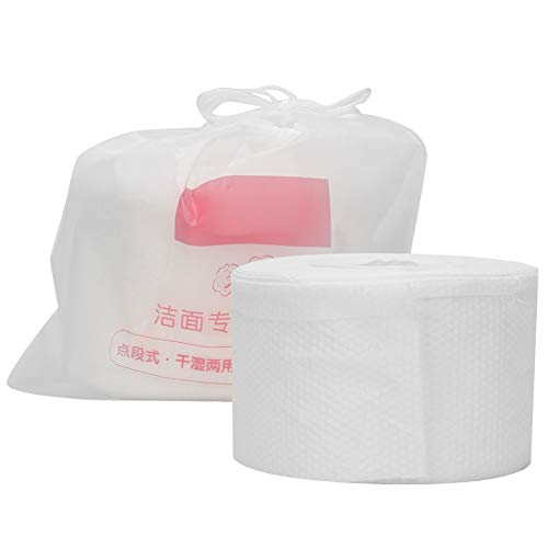 Toalla de cara desechable blanca, con material de algodón de algodón 100pcs maquillaje removedor de almohadillas