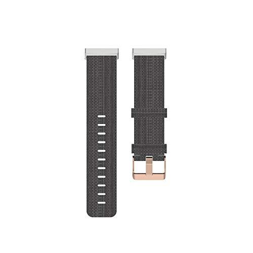 JIACUO Correa de Nailon Colorida de Repuesto Universal Pulsera Inteligente Fitbit Versa 3 / Sense para Hombres y Mujeres