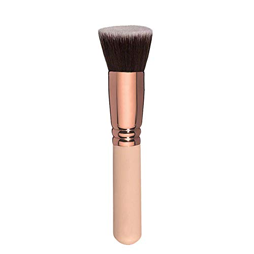 DaoRier BB Crème Pinceau de maquillage en fibres synthétiques souples Professionnel Essentiel Pinceau de fond de teint Pinceau Poudre Pinceau Eye Brush – Or rose