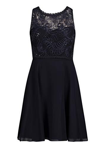Vera Mont VM Damen 0102/4825 Kleid, Blau (Night Sky 8541), (Herstellergröße: 42)