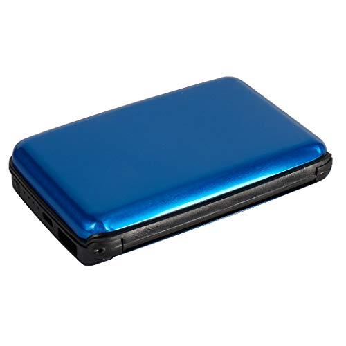 RFID Power Wallet Powerbank Blau | 2500 mAh | Zusatzakku für Smartphones, Tablets & Kameras | RFID Schutzhülle für Kreditkarten