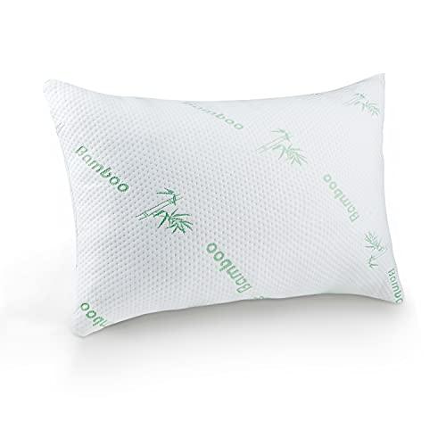 Mastery Mart Shredded Memory Foam Pillow, Removable Bamboo Pillowcase,...