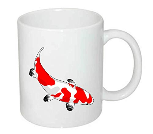 Druckerlebnis24 Tasse - Fisch Koi Rot Weiß - Kaffee-Tasse 330ml - Unisize aus Keramik - Tee