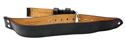 Timemaster - Cinturino per orologio in vera pelle Chronoswiss, 22 mm, con borchie, colore: marrone
