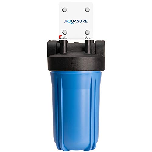 """Aquasure Fortitude High Flow Whole House Water Filter with 25 Micron Sediment + Carbon Dual Purpose Water Filter - 10"""" x 4.5"""""""