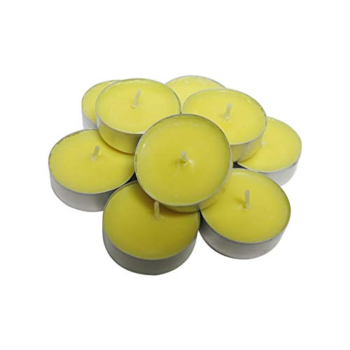 CandleNScent Citronella Candles Mosquito Repellent Outdoor Tea Lights | Deet Free | Made in USA (Pack of 30)