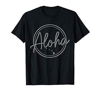 Hawaiian Islands Hawaii Map Aloha Vintage Surfer Kona Maui T-Shirt