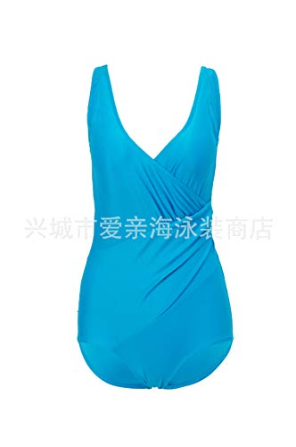 Chiffon strandkleding kwastjes strandjurk bikini, plus dikke XL badmode, eendelig badpak-Lake blue_XXXL, badpak strandkleding lingerie