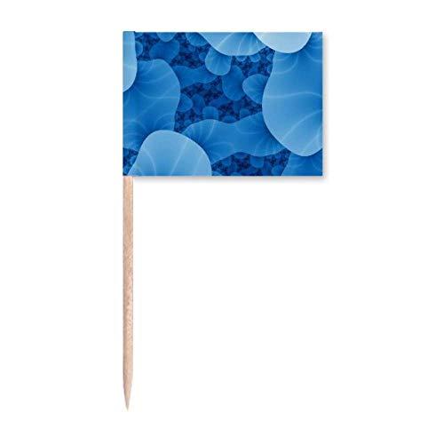 Sciense Creature Cell Mikrokosmisches Muster Zahnstocher Flaggen Marker Topper Party Dekoration