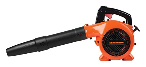 Remington RM125 Brave 25cc 2-Cycle Engine Gas Powered Leaf Blower - Handheld Gasoline Blower for Lawn Care, Orange